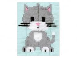 Acheter Kit canevas pour enfant chaton gris - point lancé - 18,39€ en ligne sur La Petite Epicerie - Loisirs créatifs