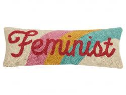 """Acheter Coussin punch needle """"Feminist"""" - 20,3 x 50,8 cm - 31,99€ en ligne sur La Petite Epicerie - Loisirs créatifs"""