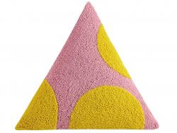 """Acheter Coussin punch needle """"Géométries - couleurs chaudes"""" triangle - 45,7 x 45,7 x 45,7 cm - 39,99€ en ligne sur La Petit..."""