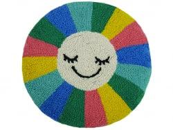 """Acheter Coussin punch needle """"Rayons de soleil"""" rond - 40,6 cm - 39,99€ en ligne sur La Petite Epicerie - Loisirs créatifs"""