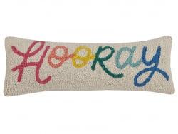 """Acheter Coussin punch needle """"Hooray"""" - 20,3 x 55,8 cm - 35,99€ en ligne sur La Petite Epicerie - Loisirs créatifs"""