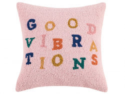 """Acheter Coussin punch needle """"Good vibrations"""" - 40,6 x 40,6 cm - 39,99€ en ligne sur La Petite Epicerie - Loisirs créatifs"""