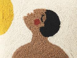 """Acheter Coussin punch needle """"Visage vers le soleil"""" - 35,5 x 35,5 cm - 35,99€ en ligne sur La Petite Epicerie - Loisirs cré..."""