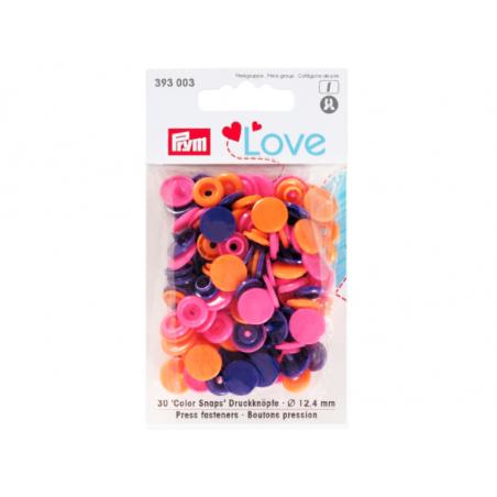 Acheter Prym love bout. press. plast. 12,4mm orange/fuchsi - 3,39€ en ligne sur La Petite Epicerie - Loisirs créatifs