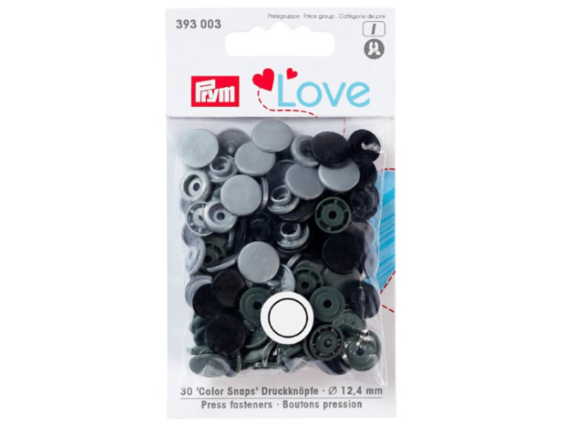 Acheter Prym love boutons pression plastique gris 12 mm - 3,39€ en ligne sur La Petite Epicerie - Loisirs créatifs