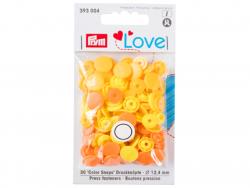 Acheter Prym love boutons pression plastique jaune 12 mm - 3,39€ en ligne sur La Petite Epicerie - Loisirs créatifs