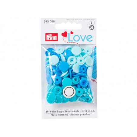 Acheter Prym love boutons pression plastique bleu 12 mm - 3,39€ en ligne sur La Petite Epicerie - Loisirs créatifs