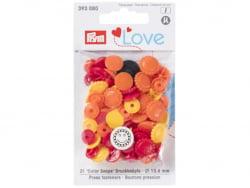 Acheter Prym love boutons press. fleur 13,6 mm jaune/rouge - 3,39€ en ligne sur La Petite Epicerie - Loisirs créatifs
