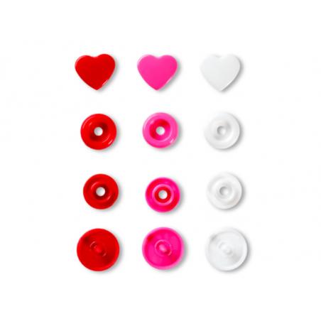 Acheter Prym love boutons press. coeur 12,4mm rouge/blanc/ - 3,39€ en ligne sur La Petite Epicerie - Loisirs créatifs