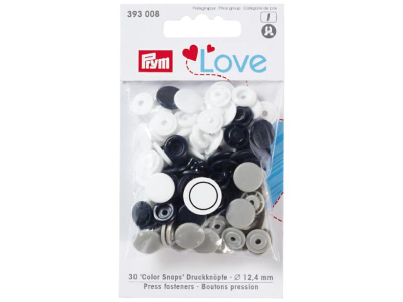 Acheter Prym love bout. press. plast. 12,4mm marine/gris/b - 3,39€ en ligne sur La Petite Epicerie - Loisirs créatifs