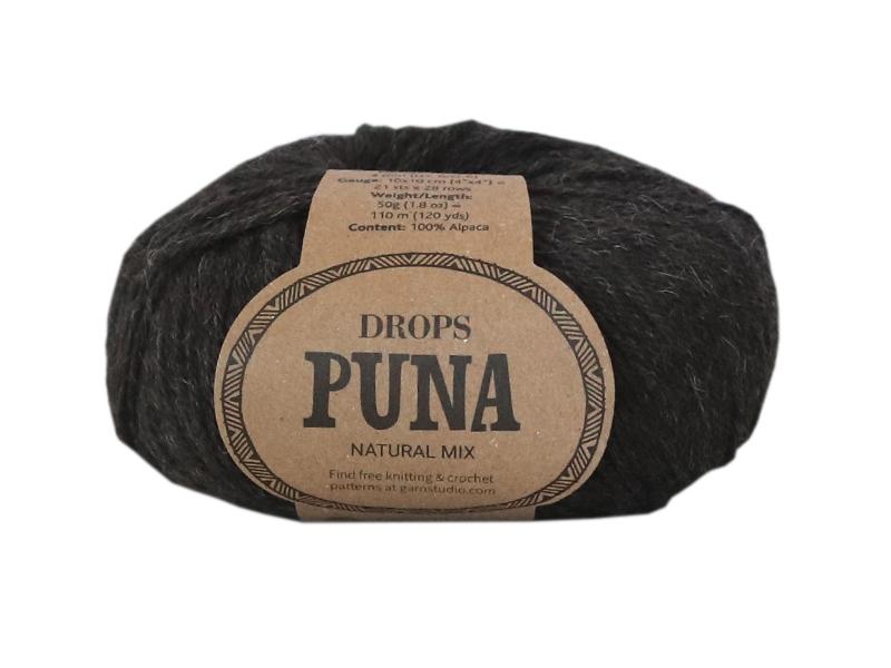 Acheter Laine Drops - Puna - 08 Noir (natural mix) - 3,35€ en ligne sur La Petite Epicerie - Loisirs créatifs