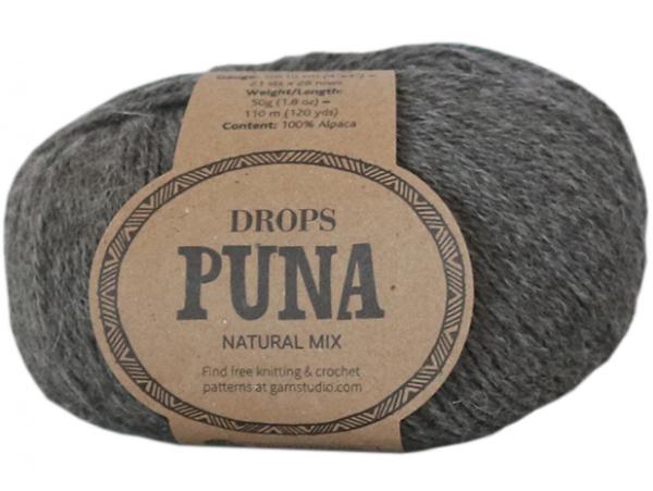 Acheter Laine Drops - Puna - 05 Gris foncé (natural mix) - 3,35€ en ligne sur La Petite Epicerie - Loisirs créatifs