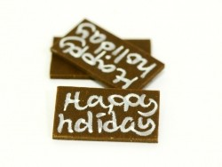 "1 Plättchen ""Happy Holiday"""