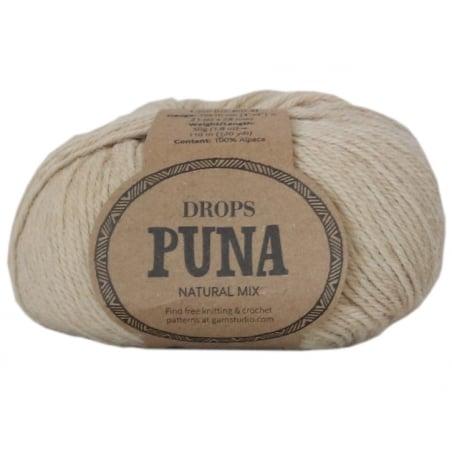 Acheter Laine Drops - Puna - 02 Beige (natural mix) - 3,35€ en ligne sur La Petite Epicerie - Loisirs créatifs