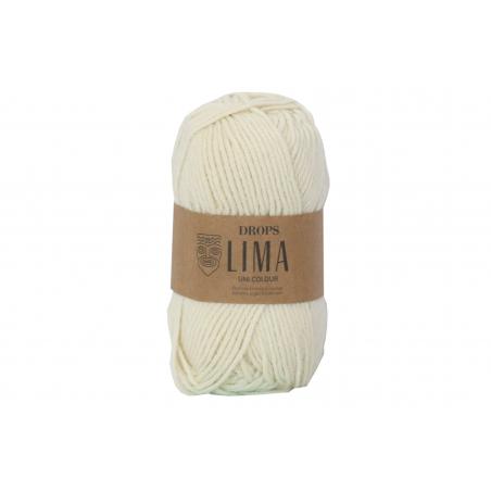 Acheter Laine Drops - Lima - 0100 Naturel (uni color) - 2,65€ en ligne sur La Petite Epicerie - Loisirs créatifs