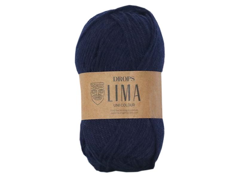 Acheter Laine Drops - Lima - 9016 Bleu marine (uni color) - 2,65€ en ligne sur La Petite Epicerie - Loisirs créatifs