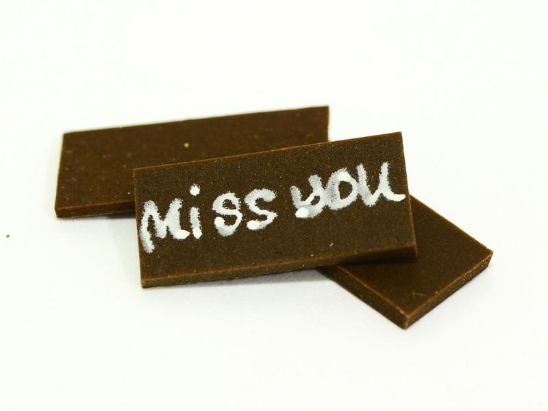 "1 Plaque ""Miss you"""