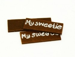 "1 ""My sweetie"" chocolate decoration"