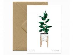 Acheter CARTE AQUARELLE - Ficus - ATWS - 3,49€ en ligne sur La Petite Epicerie - Loisirs créatifs