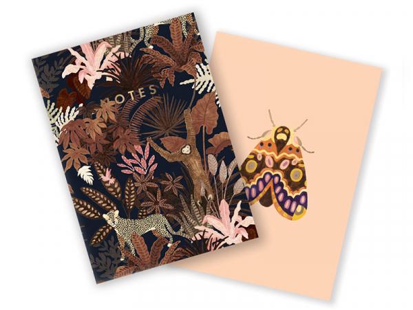 Acheter Lot de 2 carnets A6 - Singe & papillon - 7,49€ en ligne sur La Petite Epicerie - Loisirs créatifs