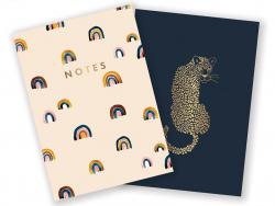Acheter Lot de 2 carnets A6 - Léopard & Arc-en-ciel - 7,49€ en ligne sur La Petite Epicerie - Loisirs créatifs