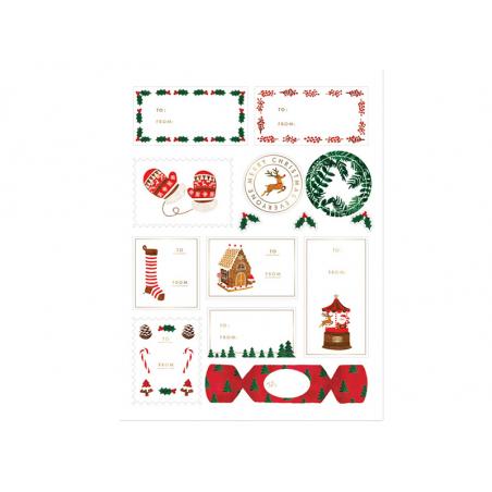 Acheter 3 planches d'étiquettes pour cadeau - Noël ATWS - 4,89€ en ligne sur La Petite Epicerie - Loisirs créatifs