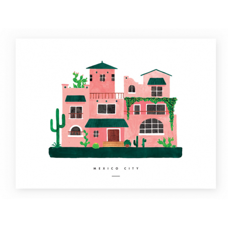 Acheter Affiche mexico city - 29,7 X 39,7 cm - 23,99€ en ligne sur La Petite Epicerie - Loisirs créatifs
