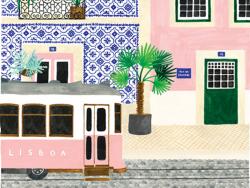 Acheter Affiche aquarelle - Lisbonne - 29,7 x 39,7 cm - ATWS - 23,99€ en ligne sur La Petite Epicerie - Loisirs créatifs