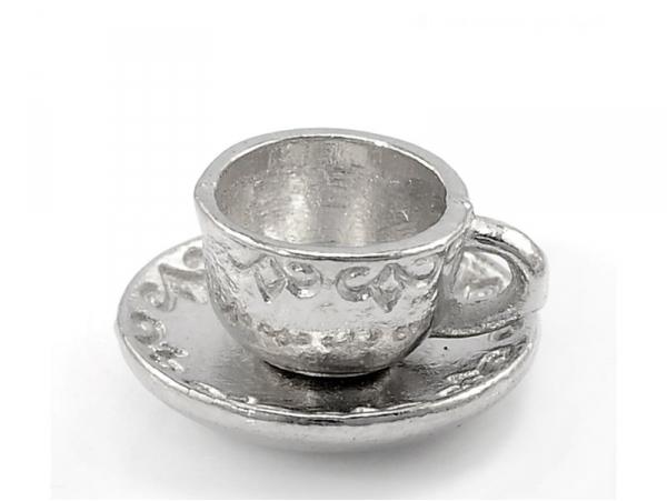 Acheter 1 Breloque tasse de thé - couleur argent - 1,89€ en ligne sur La Petite Epicerie - Loisirs créatifs