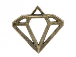 1 openwork diamond charm - bronze-coloured