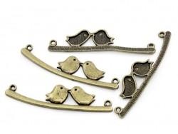 1 Breloque inséparables - couleur bronze