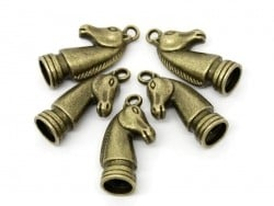 1 Breloque cavalier - couleur bronze
