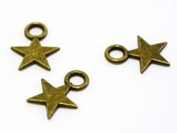1 Breloque petite étoile - bronze  - 1