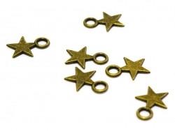 1 kleiner Sternenanhänger - bronzefarben