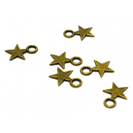 1 small star charm - bronze-coloured