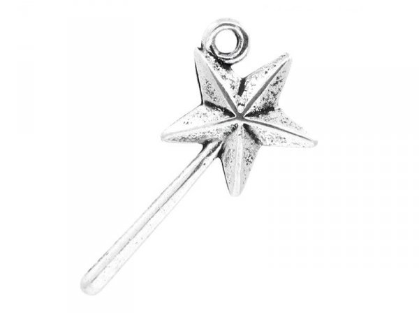 1 wand charm - silver-coloured