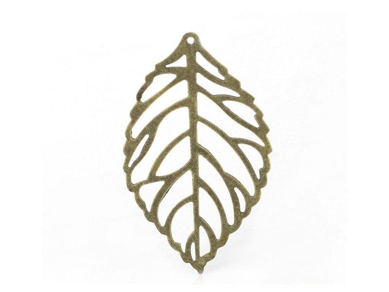 Acheter 1 Breloque feuille ajourée - couleur bronze - 0,39€ en ligne sur La Petite Epicerie - Loisirs créatifs
