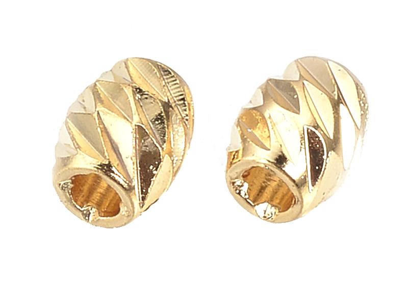 Acheter 10 perles séparateurs - doré à l'or fin 18k - 4 x 3 mm - 2,39€ en ligne sur La Petite Epicerie - Loisirs créatifs