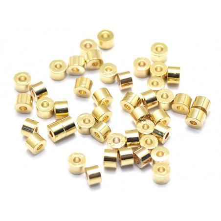 Acheter 20 perles intercalaires - doré à l'or fin 18k - 2,5 x 1,8 mm - 3,19€ en ligne sur La Petite Epicerie - Loisirs créatifs