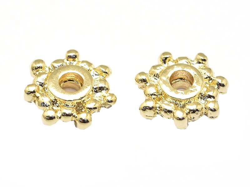 Acheter 10 perles intercalaires heishi - doré à l'or fin 18k - 7,5 x 2 mm - 3,99€ en ligne sur La Petite Epicerie - Loisirs ...