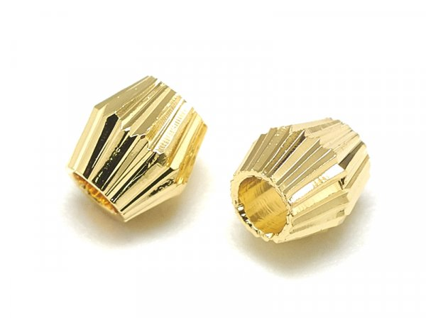 Acheter 10 perles ondulées - doré à l'or fin 18k - 4 x 4 mm - 2,89€ en ligne sur La Petite Epicerie - Loisirs créatifs