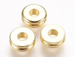 Acheter 10 perles séparateurs - doré à l'or fin 24k - 6 x 2 mm - 3,19€ en ligne sur La Petite Epicerie - Loisirs créatifs
