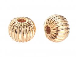 Acheter 10 perles rondelles ondulées - doré à l'or fin 18k - 4 x 3 mm - 4,49€ en ligne sur La Petite Epicerie - Loisirs créa...