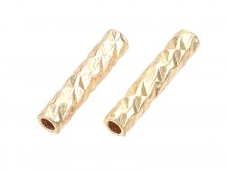 Acheter 20 perles fantaisie - doré à l'or fin 18k - 7 x 1,5 mm - 3,19€ en ligne sur La Petite Epicerie - Loisirs créatifs