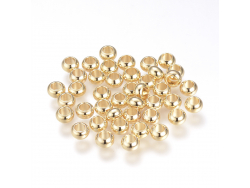Acheter 10 perles rondelles séparateurs - doré à l'or fin 18k - 5 x 3 mm - 4,49€ en ligne sur La Petite Epicerie - Loisirs c...
