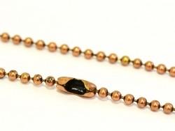 Collier chaine bille caramel - 60 cm