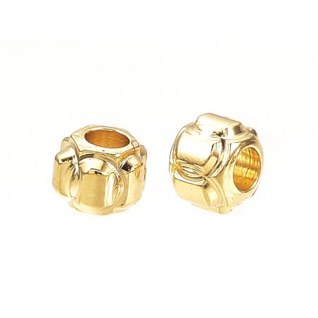 Acheter 10 perles lanternes séparateurs - doré à l'or fin 18k - 3 x 2,5 mm - 3,19€ en ligne sur La Petite Epicerie - Loisirs...