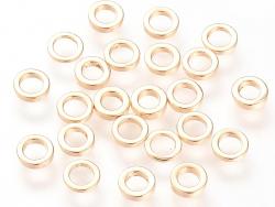 Acheter 10 perles séparateurs - doré à l'or fin 18k - 5 x 1 mm - 3,99€ en ligne sur La Petite Epicerie - Loisirs créatifs