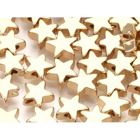Acheter 10 perles étoiles - doré à l'or fin 18k - 8 x 8 x 3 mm - 7,99€ en ligne sur La Petite Epicerie - Loisirs créatifs