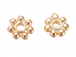 Acheter 10 perles séparateurs - doré à l'or fin 18k - 5,5 x 1,5 mm - 2,39€ en ligne sur La Petite Epicerie - Loisirs créatifs